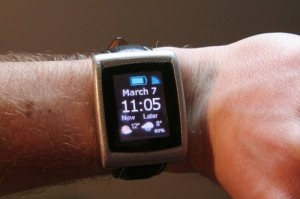 Blackberry watch on wrist
