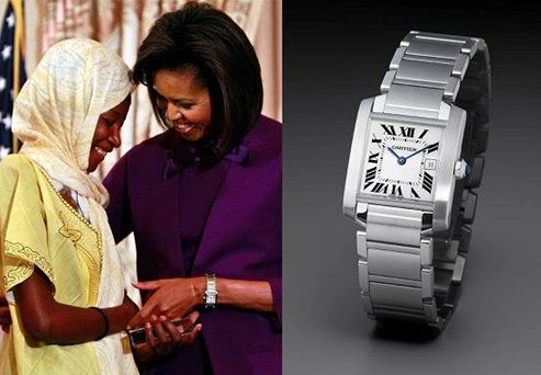 Michelle Obama's Cartier Tank Watch